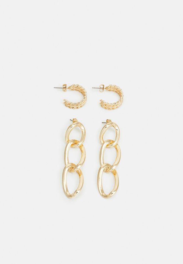 PCNILLY EARRINGS 2 PACK - Kolczyki - gold-coloured