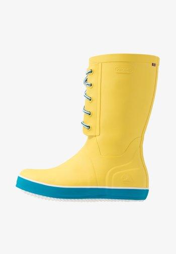 RETRO LOGG - Stivali di gomma - yellow
