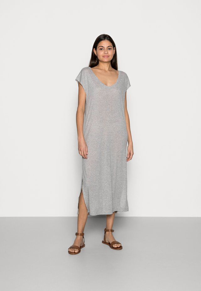 DRESS - Vestito di maglina - light grey
