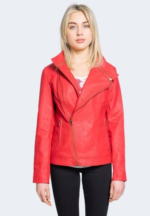 CHAQ OSLO - Faux leather jacket - red