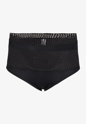 SUPER HIGH RISE, LACY KNICKERS - Pants - black
