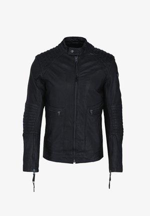 FREDERIK - Leather jacket - black