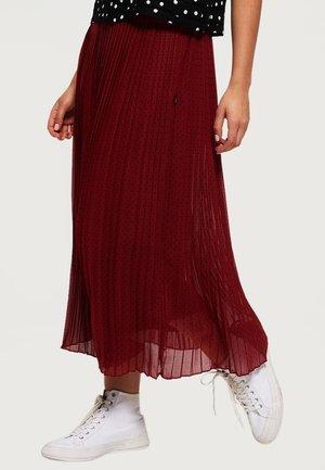 PLEATED MIDI SKIRT - Pleated skirt - rust