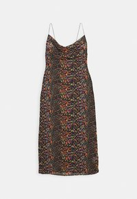 Missguided - LEOPARD PRINT COWL NECK DRESS - Complementos de playa - black - 3