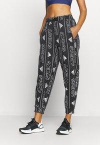 adidas Performance - BOS PANT - Pantalones deportivos - black/white - 0