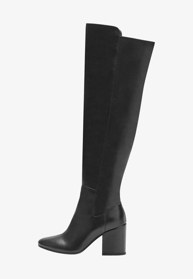 GWEN - Laarzen met hoge hak - black
