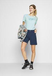 Salewa - GRAPHIC TEE - Print T-shirt - canal blue melange - 1