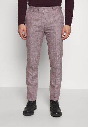 TROUSER SLIM - Dressbukse - pink