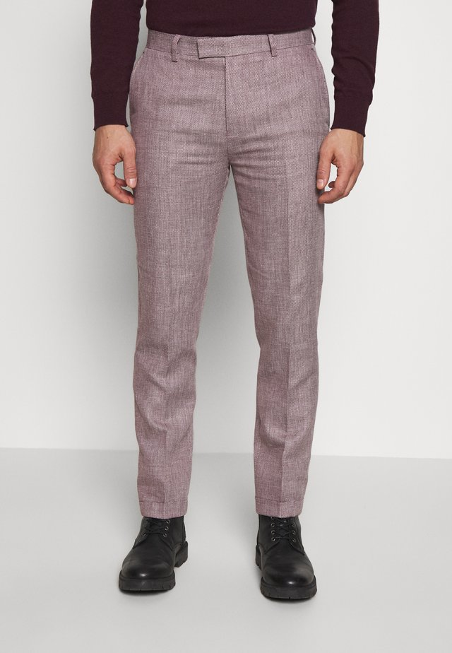 TROUSER SLIM - Spodnie garniturowe - pink