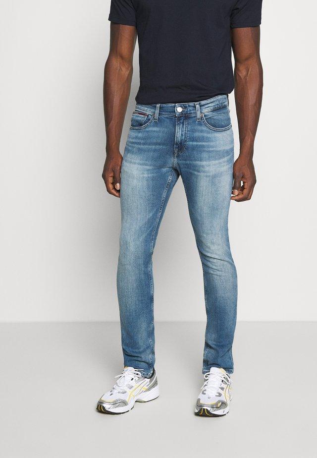 SCANTON SLIM - Slim fit -farkut - portobello mid blue comfort