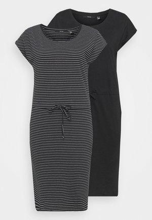 VMAPRIL SHORT DRESS 2 PACK - Jersey dress - black/ snow white