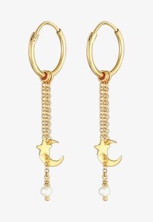 HALF MOON STAR - Earrings - gold