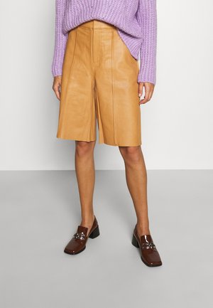 TAZ - Leather trousers - camel