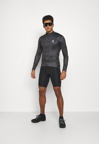 ODLO - MIDLAYER FULL ZIP ZEROWEIGHT CERAMIWARM - Sports shirt - graphite grey/black - 1