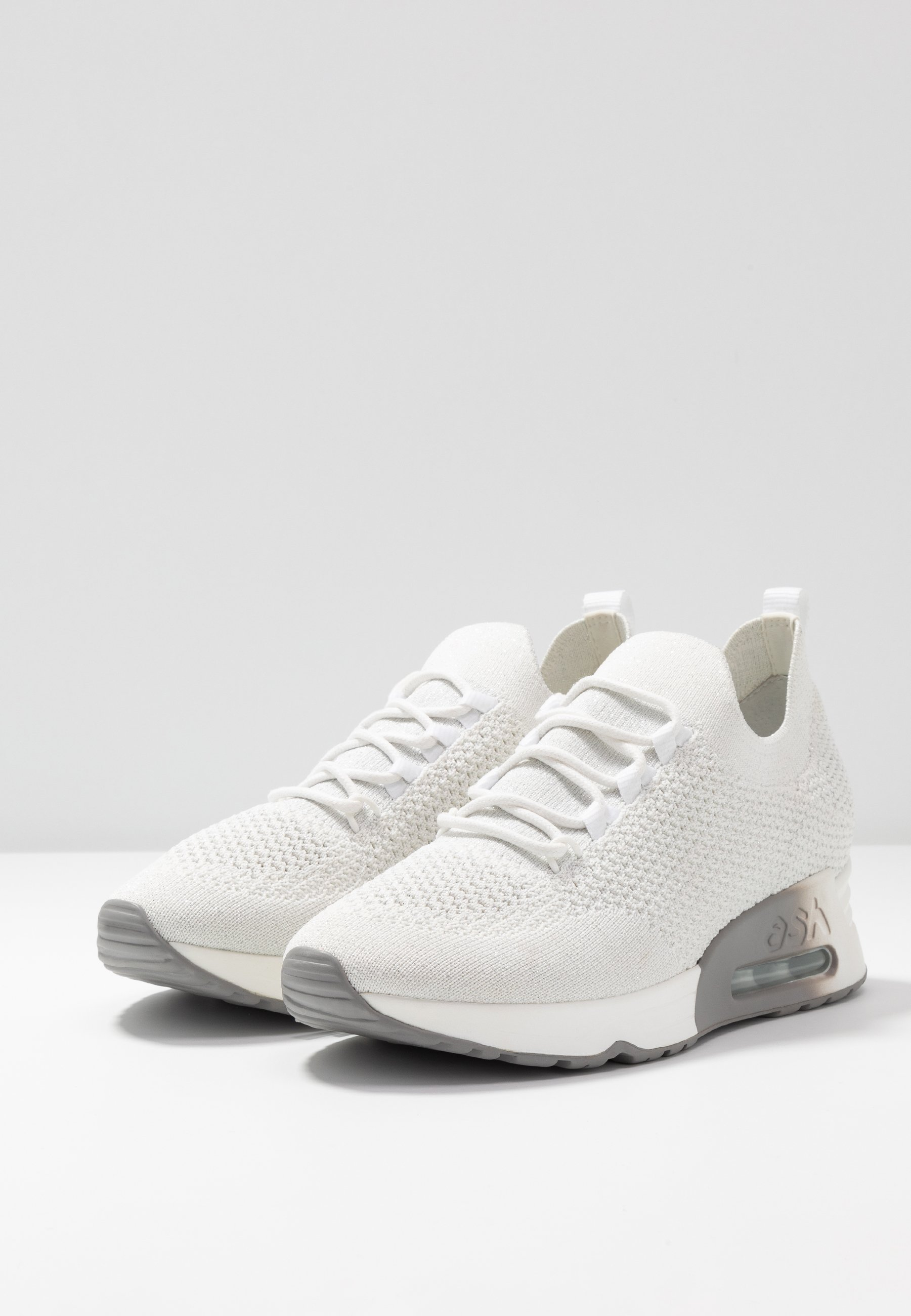 Ash Sneaker low white/silber