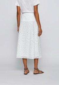 BOSS - VAJOUR - A-line skirt - white - 2