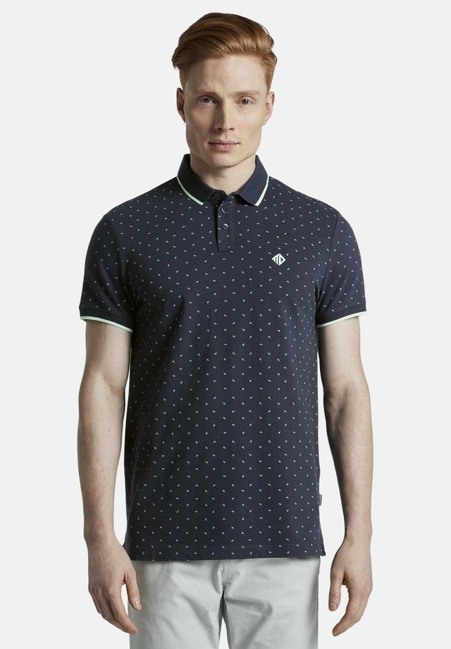 MIT ALLOVER-PRINT - Polo - navy blue