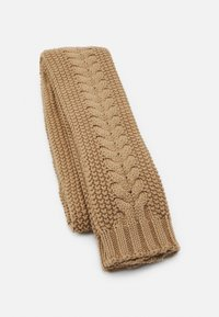 Barbour - CABLE BEANIE SCARF SET - Scarf - camel - 2