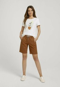TOM TAILOR - Shorts - caramel brown - 1
