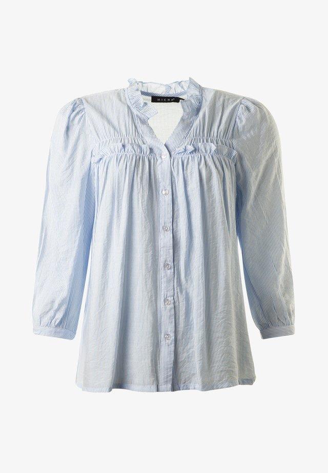Gandia - Small Striped - Blus - bluewhite