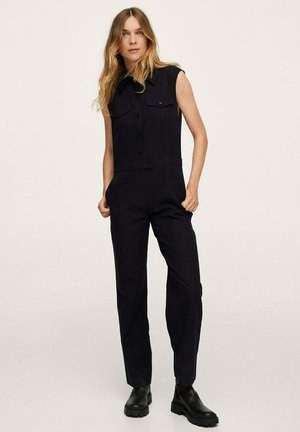 LONG CHEST-POCKET - Jumpsuit - black