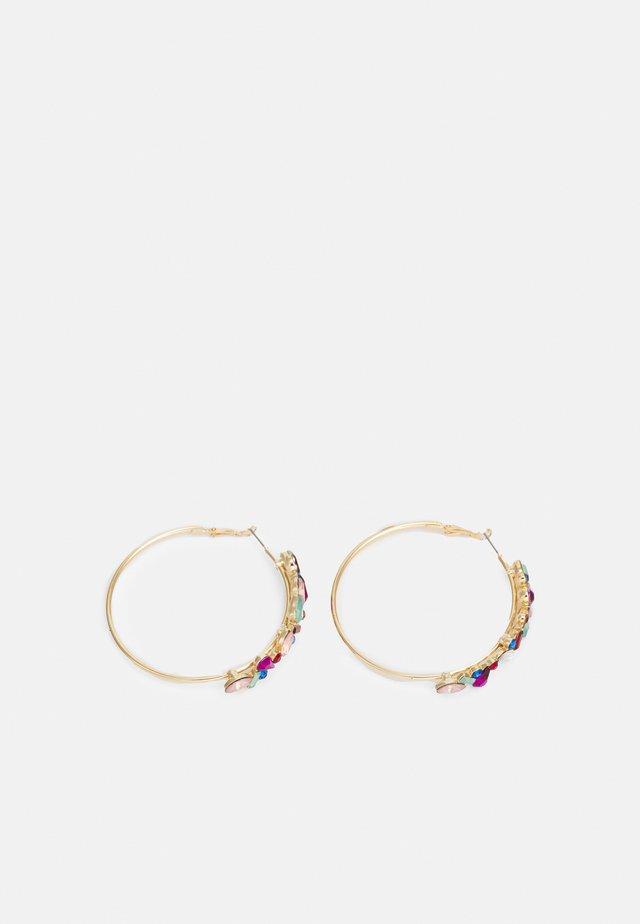 PCFOKORY HOOP EARRINGS - Pendientes - gold-coloured/multi