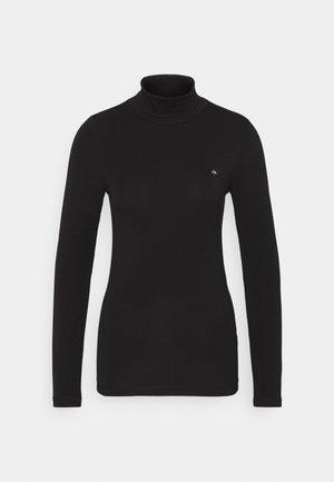 TURTLE NECK - Maglietta a manica lunga - black