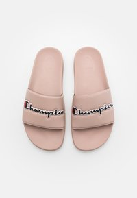 Champion - SLIDE EVO SCRIPT - Chanclas de baño - triple pink - 3
