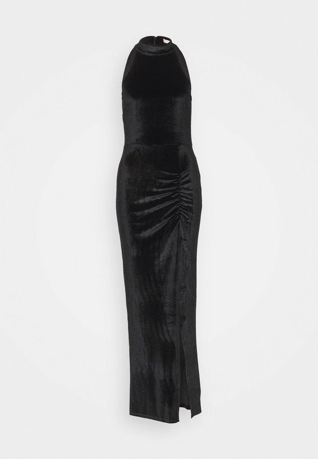 DRAPY HIGHNECK GOWN - Ballkleid - black