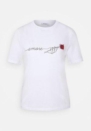 PCAMORE SEQUINS TEE - Camiseta estampada - white