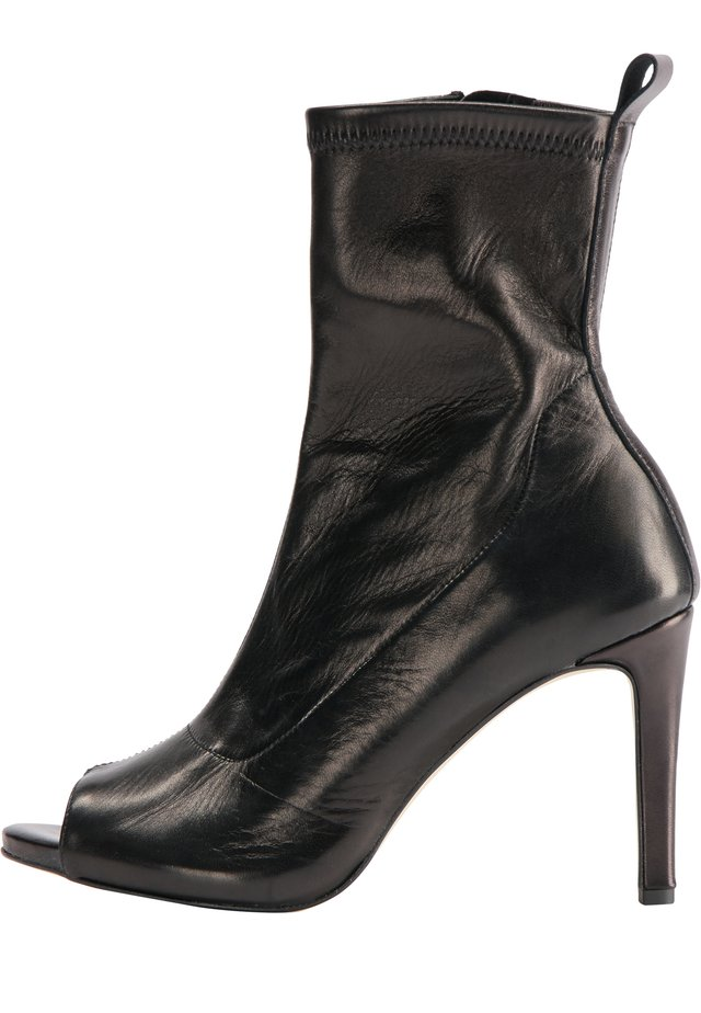 Peeptoe heels - schwarz