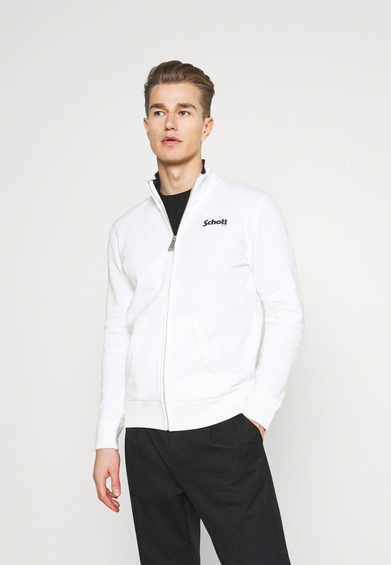 Schott - Zip-up sweatshirt - off white