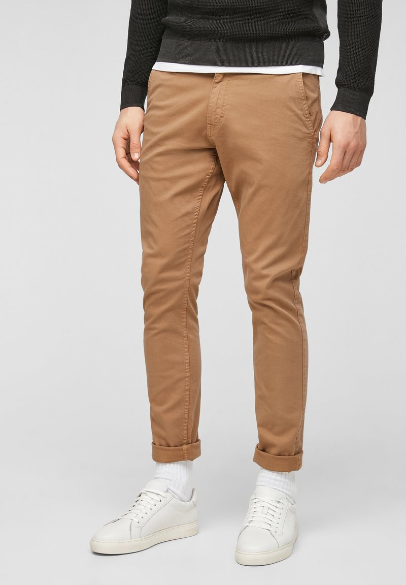 QS by s.Oliver - Trousers - brown
