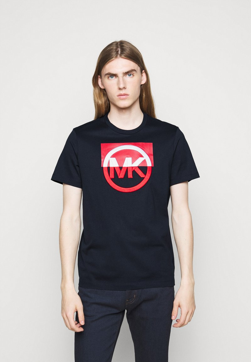 Michael Kors - BLOCK LOGO TEE - Print T-shirt - dark midnight