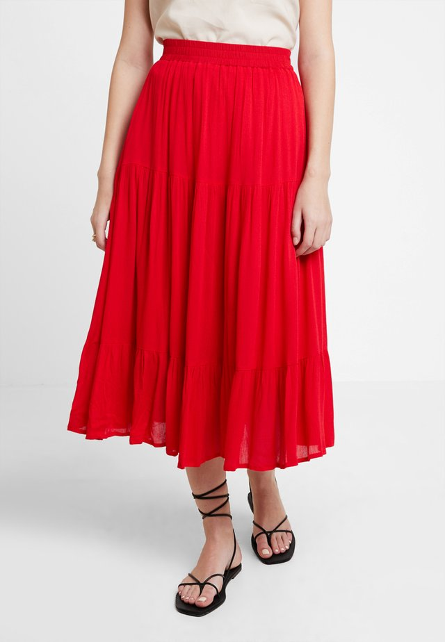 LEONORA - A-line skirt - red