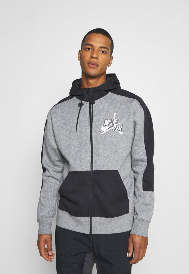 veste en sweat zippée - carbon heather/black