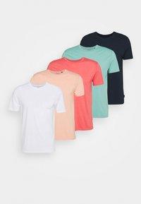 Burton Menswear London - BASIC 5 PACK - Basic T-shirt - pink - 7