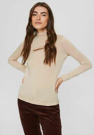 REGULAR FIT - Long sleeved top - sand