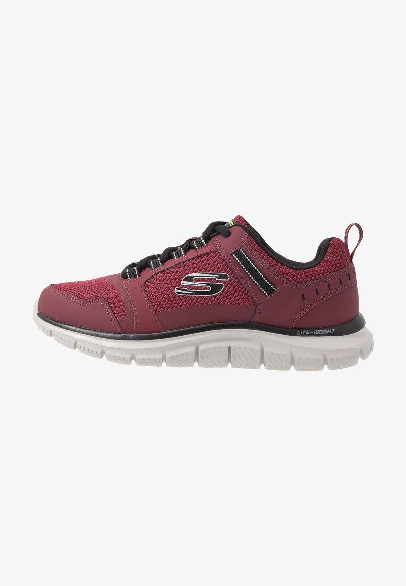 Skechers Sport - TRACK - Sneakers basse - burgundy/black
