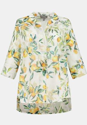 Button-down blouse - dunkles goldgelb