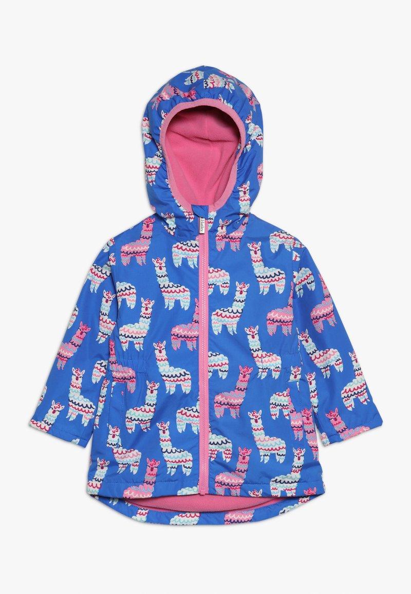 Hatley - KIDS ADORABLE ALPACAS - Waterproof jacket - blue