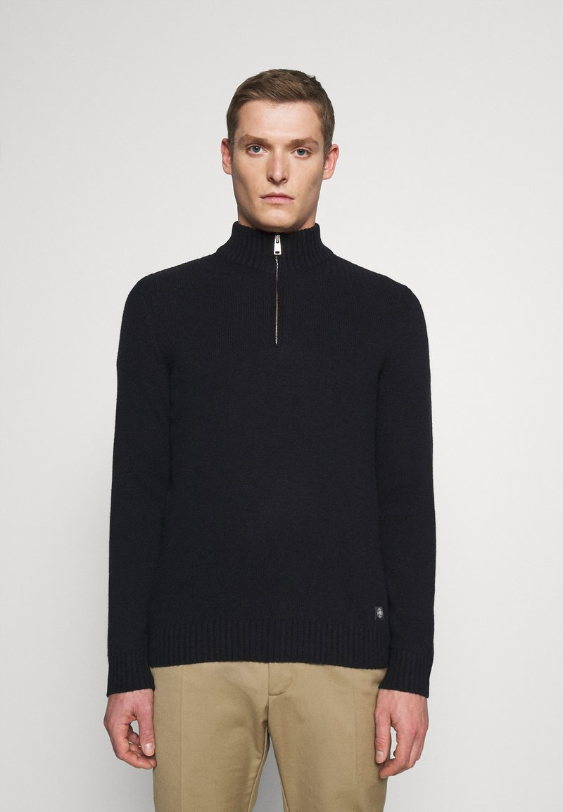 Marc O'Polo - TROYER ZIPPER - Jumper - total eclipse