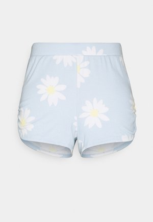 PRINTED COZY SHORT - Pyjama bottoms - blue