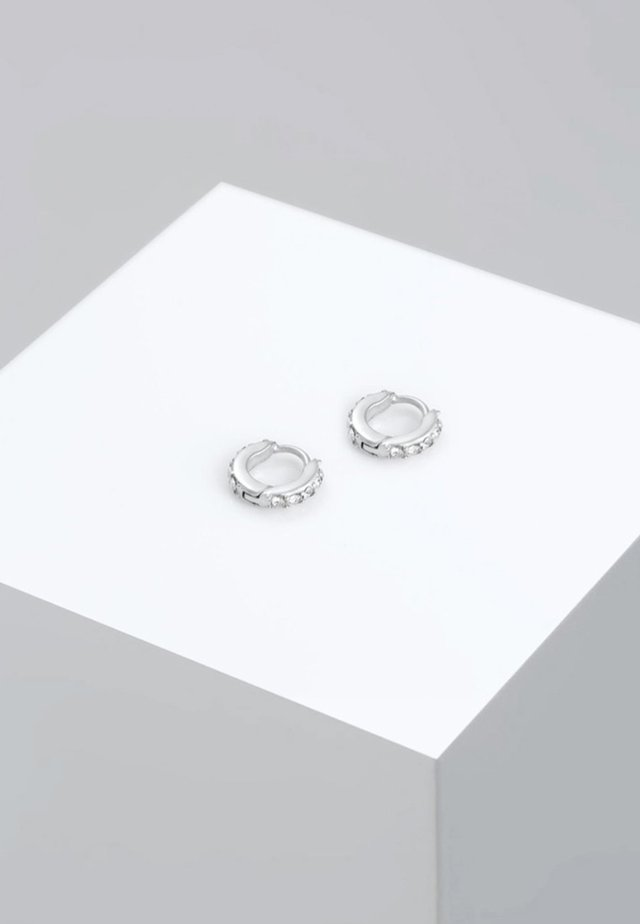 CREOLEN MINIMAL - Earrings - silber