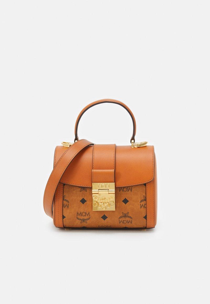 MCM - TRACY VISETOS SATCHEL SMALL - Handbag - cognac