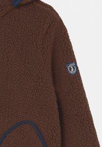 Finkid - TONTTU NALLE UNISEX - Fleece jacket - cocoa/navy - 3