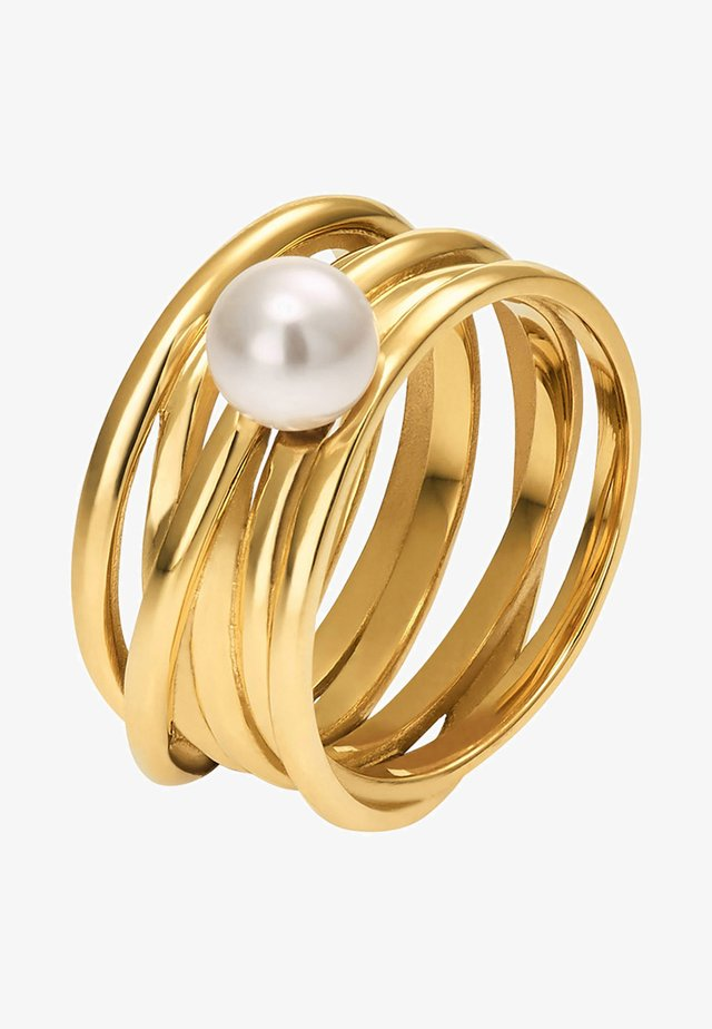 MIT PERLE - Ring - gold-coloured