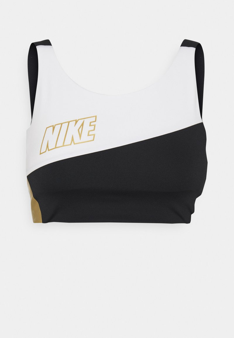 Nike Performance - LOGO BRA PAD - Sujetador deportivo - white/black/metallic gold