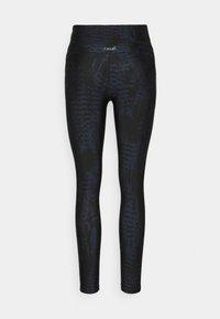 Casall - ICONIC PRINTED - Leggings - survive dark blue metallic - 5
