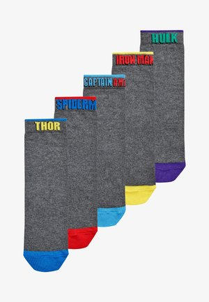 MARVEL AVENGERS 5 PACK COTTON RICH SOCKS - Sokken - grey